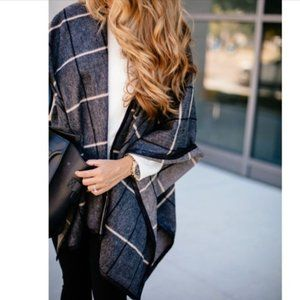 TROUVÉ [Nordstrom] wool cape - ruana | LNWOT